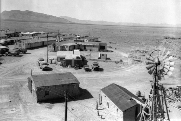 Base Camp for Trinity Site was located on the Dave and Ross McDonald Ranch and was ten miles southwest of Ground Zero. Photo courtesy of WSMR.