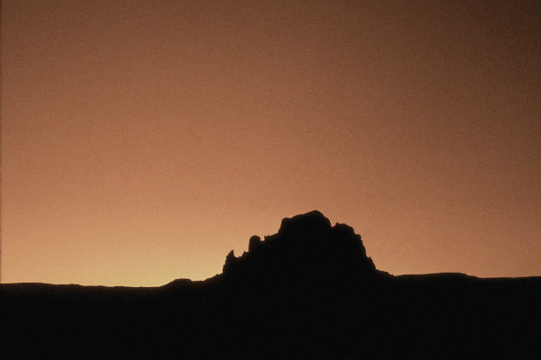 Red sunset, Rio Puerco Valley, New Mexico. Photograph by Larry Crumpler.